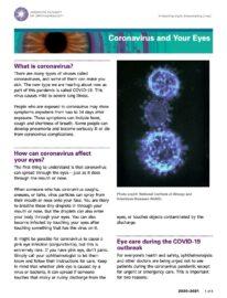 AAO - Coronavirus and Your Eyes